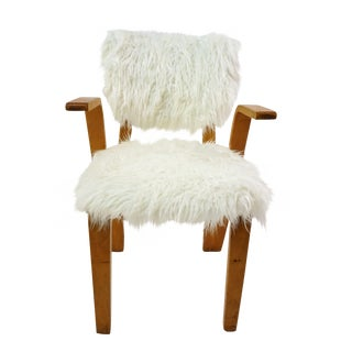 Thonet Grasshopper Style Chair with Mongolian Fur