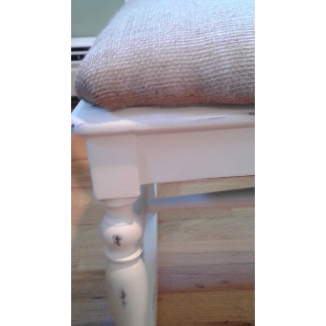 Hand Painted and Upholstered Rocking Chair - Image 5 of 5