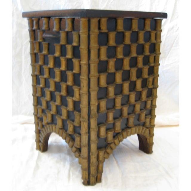 Folk Art Spool Table With Hidden Storage - Image 6 of 6