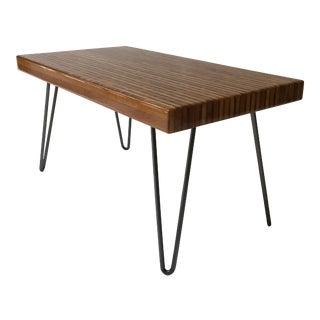 Modern Bamboo Slab Coffee Table