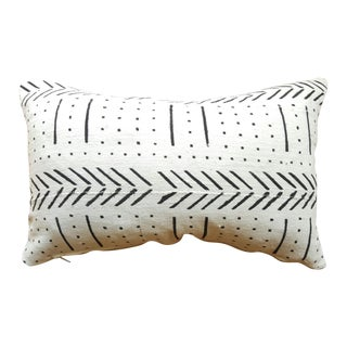 White African Mud Cloth Lumbar Pillows - A Pair