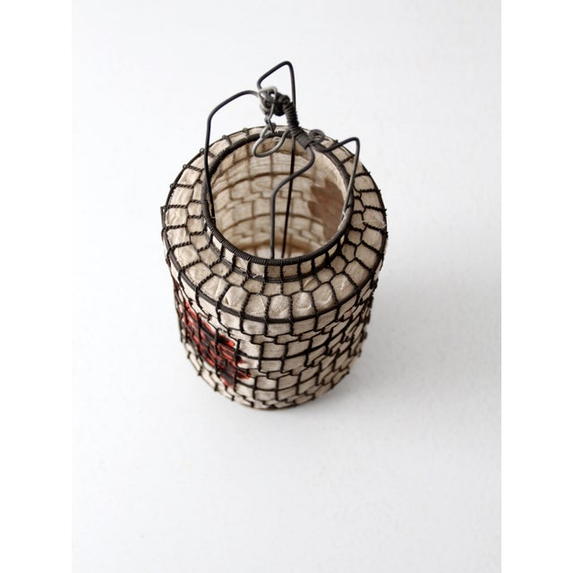 Vintage Chinese Wire Lantern - Image 3 of 6