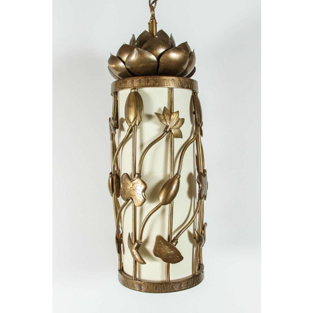 Brass Lotus Pendant - Image 7 of 10