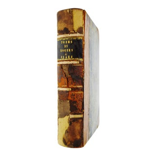 1820 Poems by Samuel Rogers and John Clare Leather Bound Book