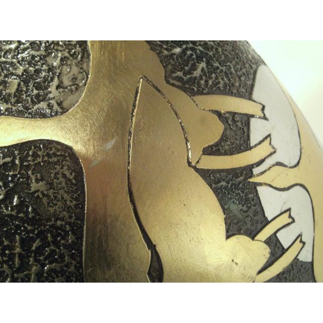 Large Alexander Kalifano Gold & Silver Leaf Vase - Image 9 of 10