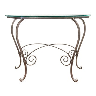 Glass & Silver Console Table