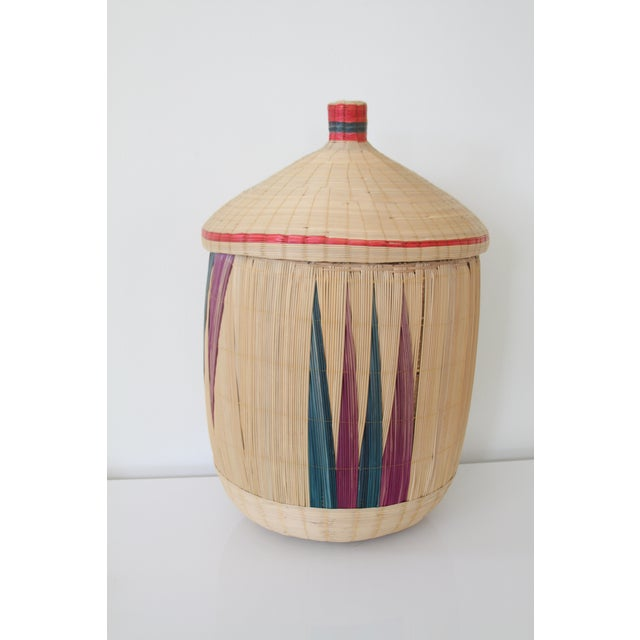Image of Woven Basket with Lid