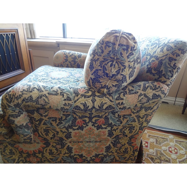 Image of Blue & Yellow Floral Swivel Chair - 3 Available