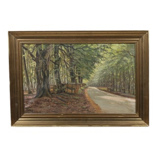 Carl Petersen Shading Branches Oil Painting