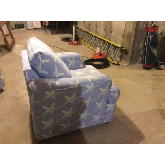 """Starfish Blue"" Chair & Ottoman Set - Image 4 of 7"
