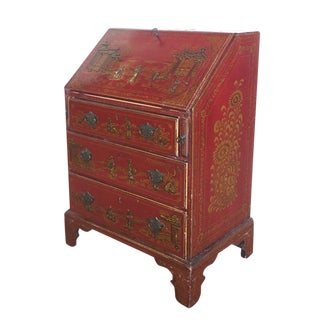 Red Laquered English Secretary
