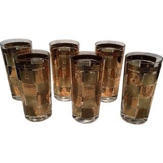 'Golden Celeste' Highball Glasses - Set of 6