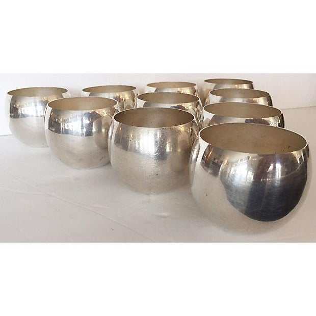 Silver Plate Small Glasses - Set of 10 - Image 2 of 5