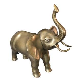 Vintage Large Solid Brass Elephant