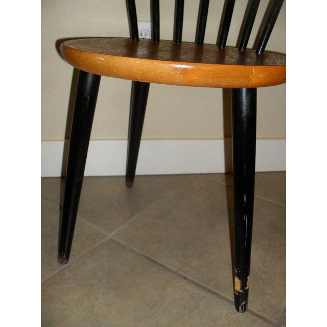 Danish Modern 1950's Teak Spindle Back Chair - Image 5 of 6