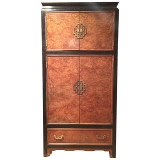 Century Furniture Ming Style Burl Airmoire