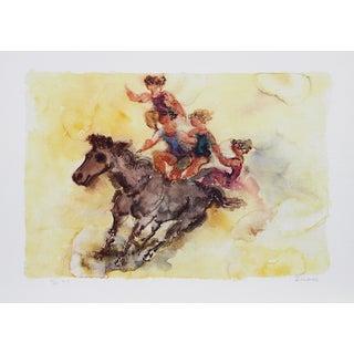 "Chaim Gross, ""Bareback Rider,"" Lithograph"
