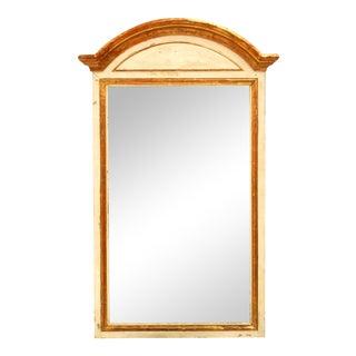 1890s Antique Italian Painted Pier Mirror