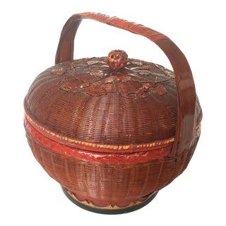 Early 20th Century Chinese Wedding Basket