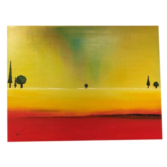 "Image of Vincent Golshani ""Apple Trees"" Painting"
