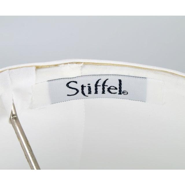 Stiffel Metal Table Lamp & Cotton Shade - Image 9 of 11