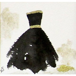 Contemporary Black Ballgown Painting
