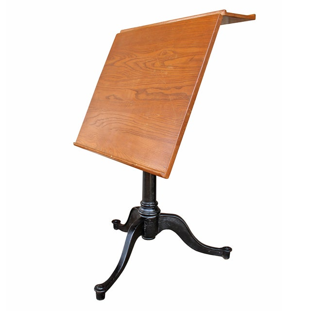 Vintage Pine Drafting Table - Image 3 of 5