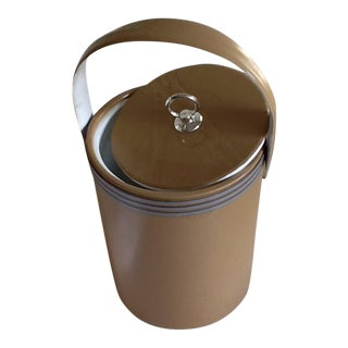 Vintage Tan Vinyl Ice Bucket