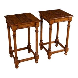 Sarreid Ltd Walnut Side Tables - A Pair