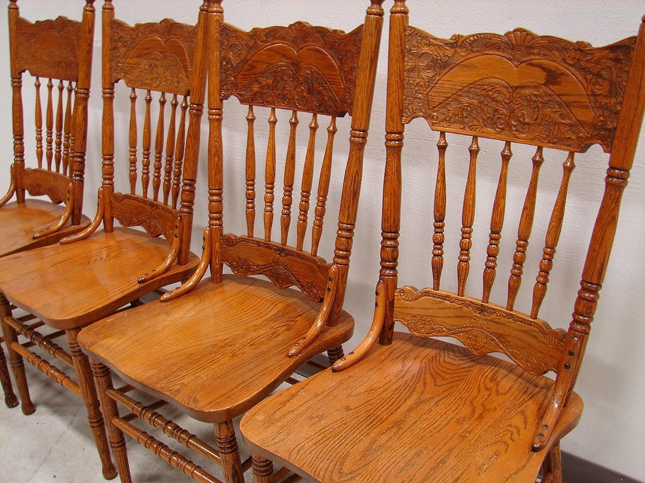 French Kitchen Chairs: French Country Oak Dining Kitchen Chair Set