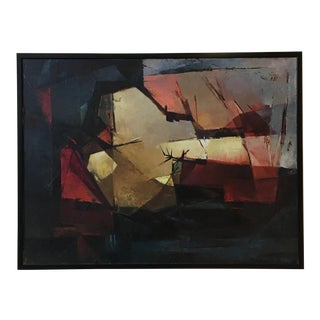 Abstract Modern Oil Painting by Phoebe Healey, 1960