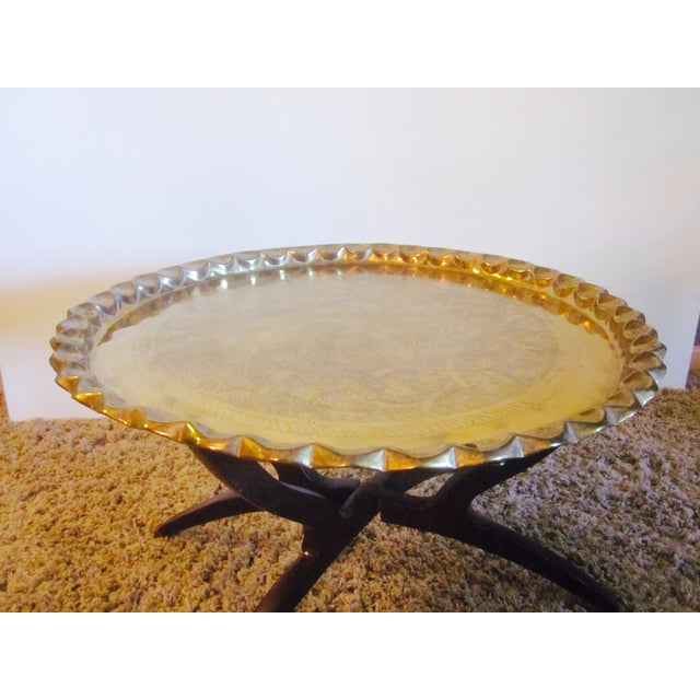 Image of Mid-Century Modern Brass Tray Coffee Table