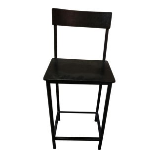 Black Metal Counter Stool
