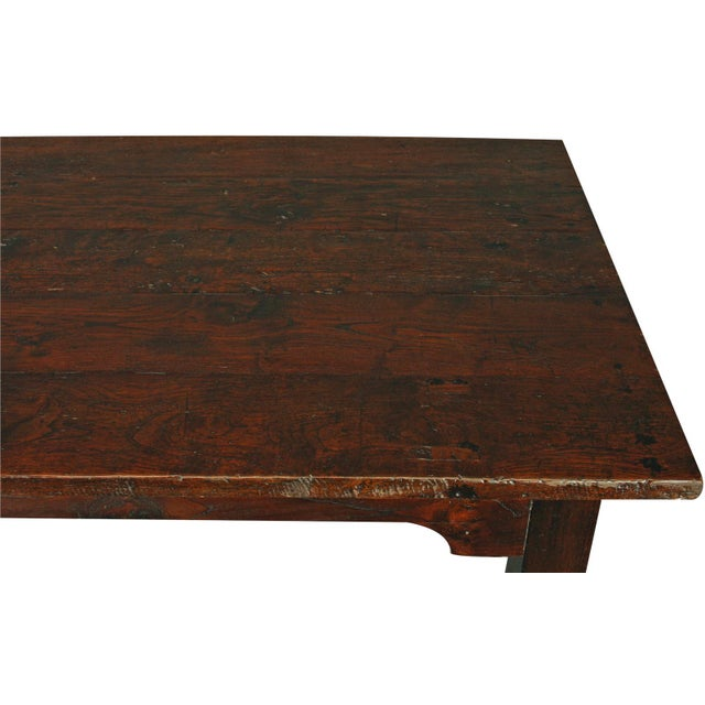 solid oak with teak country style dining table chairish