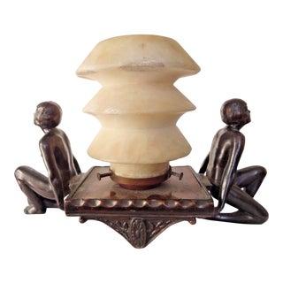 Alabasterique Art Deco Lamp