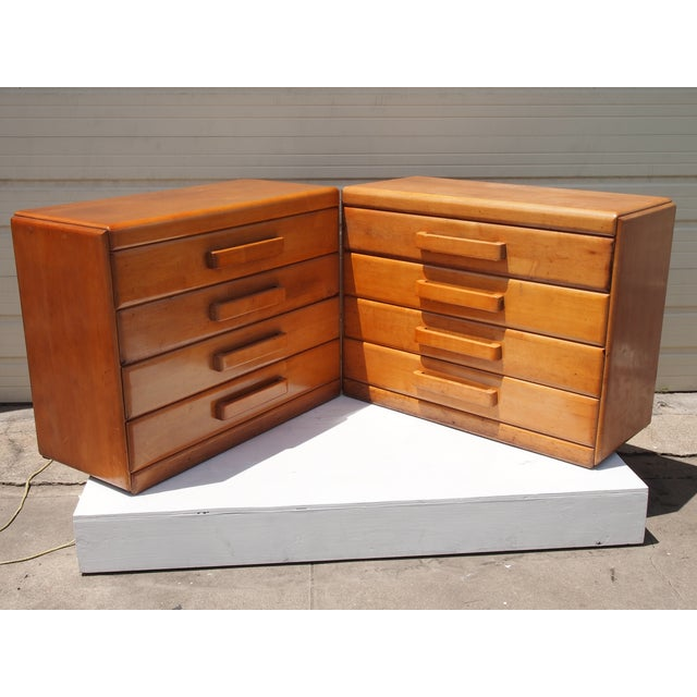 Image of Russel Wright Chests of Drawers - A Pair