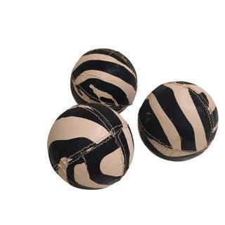Zebra Printed Leather Balls