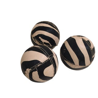 Zebra Printed Leather Balls