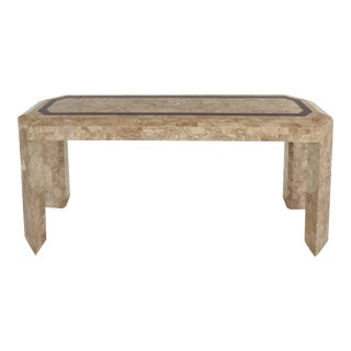 Maitland-Smith Tessellated Stone & Horn Console Table