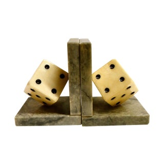 Italian Dice Bookends - A Pair