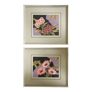 Colet Framed Floral Prints- a Pair