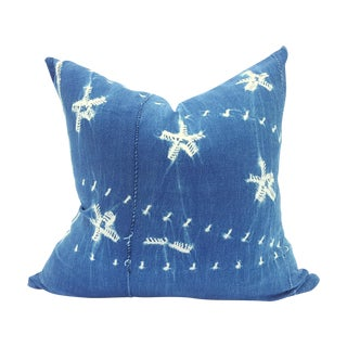 Indigo Blue African Mud Cloth Pillow