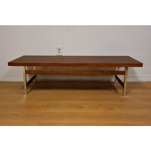Lane formica aluminum coffee table chairish Formica coffee table