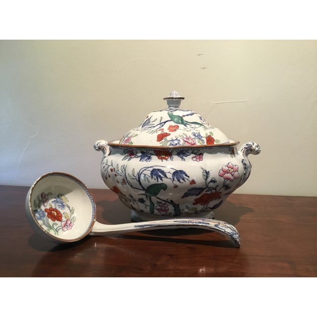 Antique Soup Tureen & Ladle - Image 2 of 4