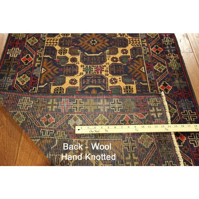 """Tribal Baluch Wool Runner Rug - 2'9"""" x 10' - Image 9 of 9"""