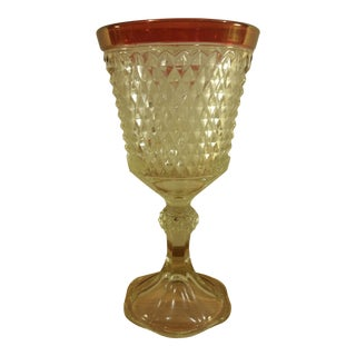 Indiana Glass Diamond Point Vase