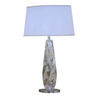 4 Handblown Clear Murano Glass Table Lamps