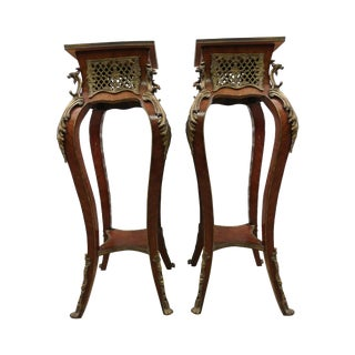 Vintage French Louis XVI Style Plant Stands - Pair