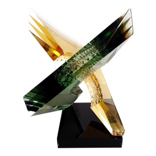 """""""Intersection"""" Lucite Sculpture by Michael George"""