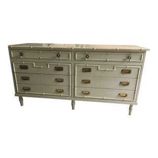 Vintage Faux Bamboo Dresser